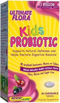 renew life ultimate flora probiotic for kids 30 tablets my kids take this once