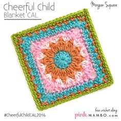 Cheerful Child is a baby blanket CAL (crochet along) on pinkmambo.com that appears every Monday and Thursday January 7-February18, 2016. If this is the first you've heard of this CAL, you'll want to check out all the information in the original CAL post here. Cheerful Child features granny-style blocks in a variety of designs, all on the easy side. It's made of 25 squares plus a border. Twelve of the squares are different granny-style designs arranged in a checkerboard pattern {Read More}