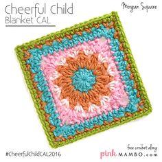 Cheerful Child baby blanket CAL