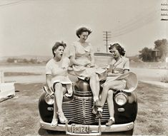 1940s summer breeze fun. Reminds me of some of my grandma's old pictures.