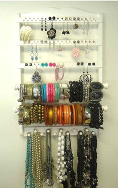 Double Bangle Jewelry Holder Organizer White