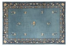 """Blue Chinese Rug, 6'1"""" x 8'1"""""""