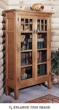 Arts and Crafts Mission Bookcase Woodworking Plan, Indoor Home Furniture Project Plan | WOOD Store