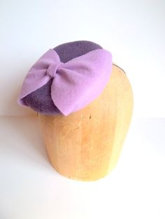 Miss Purple's Button Cocktail Hat by ChefBizzaro on Etsy, $60.00