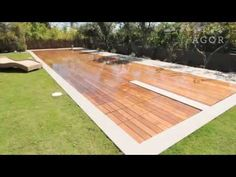 From deck to pool