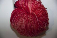 Hand-Dyed Yarn in Cherry Pie Colourway Sock Yarn Superwash Wool/Nylon Tootsie Base by KnitterScarlet on Etsy