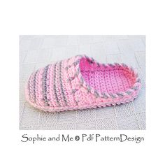 Sweater Clog Slip-In Slippers Crochet Pattern. For Kids too!