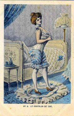Vintage trousers (and retro photo). Discussion on LiveInternet - Russian Service Online Diaries Victorian Women, Edwardian Era, Victorian Fashion, Victorian Era, Vintage Fashion, Victorian Dresses, Vintage Corset, Vintage Lingerie, Vintage Girdle