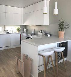 asy like monday morning - meillä toistaiseksi aurinkoa Espoossa ☀️ Home Kitchens, Contemporary Kitchen Design, Condo Kitchen, Kitchen Renovation, Kitchen Decor, Modern Kitchen, Kitchen Interior, Kitchen Dinning, Kitchen Colour Combination