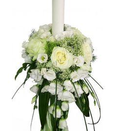 Lumanari nunta trahelium trandafiri albi lisiantus alb Table Decorations, Home Decor, Decoration Home, Room Decor, Dinner Table Decorations, Interior Decorating