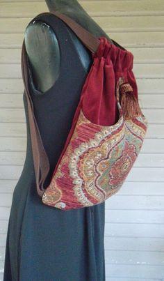 Mochila medallon tapiz Boho mochilas tapiz por piperscrossing
