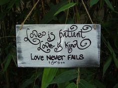 Love is patient love is kind sign wedding by SoCalWeddingGal, $14.99