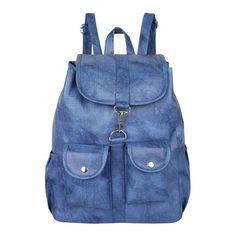 4dc6c9b45603 Stylish PU Leather Blue Backpack For Women   Girls - Rajni Fashion