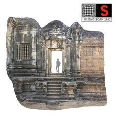 gate temple 16k 3d obj