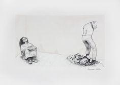 «Miserable II» de Carmen Ávila Grafito y acuarela / papel - Graphite and watercolor on paper   22.9 x 30.5 cm   2015 www.dasubstanz.com/miserable