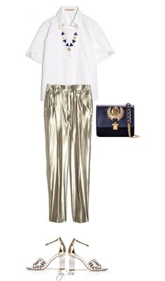 """Anthony Vaccarello pant"" by ivybui on Polyvore"
