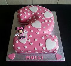 Love this cute girls number 2 cake.
