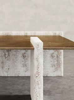 modernize old furniture Table Furniture, Furniture Design, Stone Coffee Table, Coffee Tables, Joinery Details, Interior Design Inspiration, Design Ideas, Retail Design, Decoration