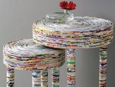 70 Amazing DIY Recycled and Upcycling Projects Ideas - Korb und Kiste Recycled Magazine Crafts, Recycled Magazines, Recycled Crafts, Diy And Crafts, Recycled Jewelry, Old Magazines, Decor Crafts, Recycler Diy, Papier Diy