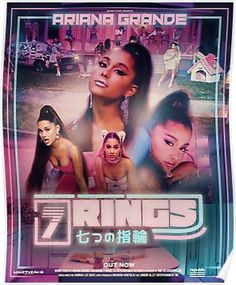 'RINGS' Photographic Print by Ninetyfour-gfx Ariana Grande Poster, Ariana Grande Drawings, Ariana Grande Wallpaper, Ariana Grande Pictures, Yours Truly, Grandes Photos, Maggie Lindemann, Tour Posters, Movie Posters
