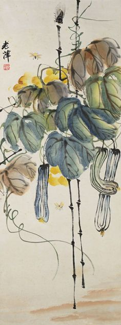 Qi Baishi - GOURDS AND INSECTS