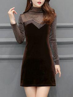 Shopping Fashion selling Dresses on Berrylook.com Lace Peplum Dress, Bodycon Dress, Brown Fashion, Dress Patterns, Dresses Online, Vintage Fashion, Kebaya, Cowl Neck, Kurti