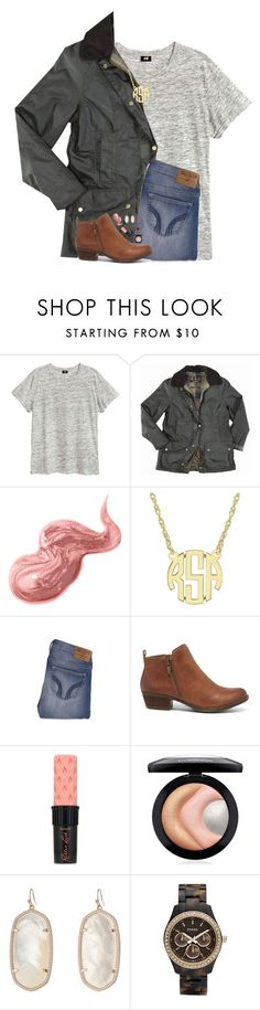 """{oh what fun it is to ride in a one horse open sleigh}"" by hgw8503 ❤ liked on Polyvore featuring Barbour, Bobbi Brown Cosmetics, Hollister Co., Lucky Brand, Benefit, MAC Cosmetics, Kendra Scott and FOSSIL"