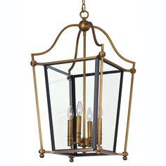 Traditional Two Tone Hanging Lantern