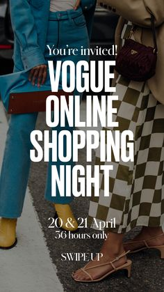 Today's the day! The Vogue Online Shopping Night (VOSN) officially kicks off on Tuesday April 20 at 12.00pm, rolling on until 11.59pm Wednesday April 21. Vogue Online, Only Online, Yoga Art, Vogue Australia, Youre Invited, My Dream Home, Relationship Quotes, Fashion News, Online Shopping
