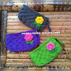 Crochet Basketwave Purses
