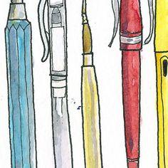 Favorite sketching art supplies watercolor by estudioarbitrario