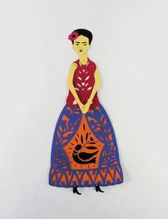 Elsa Mora — Frida Kahlo Doll Pattern. Digital Download for a set of digital patterns to make a Frida Kahlo paper doll.