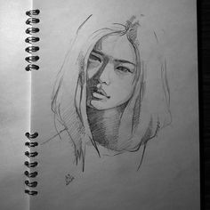 I'm a bit sick these days but I have drawing withdrawals symptoms so... only one sketch #face #sketch #sketchbook #paper #pencil #drawing #art #miro_z #arts_help #beautifulbizarre #drawingthesoul #artcomplex #nawden