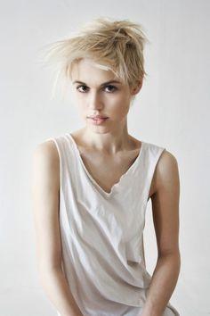 blond short haired