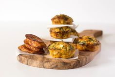Mini Baked Plantain Frittatas  via @recipespantry/ // #recipe #plantain #frittata