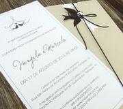 Convite de casamento clean e delicado, combinando com casamentos no estilo rustico chic