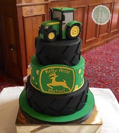 John Deere wedding cake - Cake by Crew Cakes