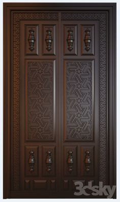 all type door design House Main Door Design, Wooden Front Door Design, Home Door Design, Main Entrance Door Design, Double Door Design, Pooja Room Door Design, Door Design Interior, Wooden Front Doors, 3d Models