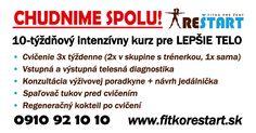 Ponuka fitka pre ženy REŠTART v Bratislave.