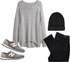 Un look simple avec des New Balance grises >> http://www.taaora.fr/blog/post/idee-tenue-simple-cool-casual-avec-des-new-balance-grises