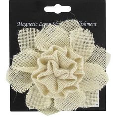 Burlap Flower Magnetic Lamp Shade Embellishment
