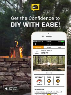 Building a fire pit can be a fun weekend project that you'll enjoy throughout the year. Learn how to build a fire pit from the ground up using the DIYZ app! DIYZ is a top home improvement app with a comprehensive video library and shopping lists for extensive popular home projects. You can also video chat with a pro contractor for any home improvement question. Download the DIYZ app and learn how to build your own fire pit today! #homeimprovementapps,
