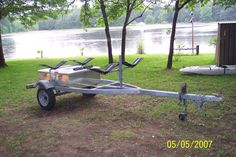 kayak trailer   my new kayak trailer conversion i like the sea wings they kept me from ...