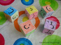 handmade beginnings: Arabic Alphabet Blocks