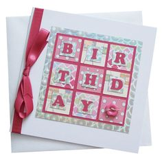 Handmade Female Birthday Card £1.80