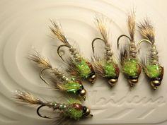 Irideus Custom Limelight Flicker Deep Nymph Trout Fly Fishing Flies Steelhead  #Irideus