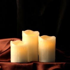 Flameless Candles LED Drip Candles Set of 4' 5' 6' Ivory Real Wax Pillar Melt Candles Battery Operated Candles Automatic with 6-H Timer Function for Wedding ,Parties-Comenzar® -- Want additional info? Click on the image.