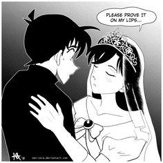 shinichi x ran kiss moment <33 T.T