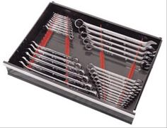 Find Ernst Manufacturing Wrench Rail Organizers 6015 and get Free Shipping on Orders Over $99 at Summit Racing! Ernst Manufacturing wrench rail organizers are now available in your choice of 20 and 40-wrench capacity styles. These wrench rail organizers are ideal for use in toolbox drawers and are 2-piece to allow for your own customized wrench arrangement. Graduated teeth provide maximum wrench storage, which equates to more tools per square inch than the competition! Ernst wrench rail…