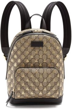 8473d640481 GUCCI GG Supreme bee-print backpack  designerbags